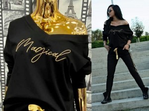 Bluza Dresowa MAGICAL Black&Gold